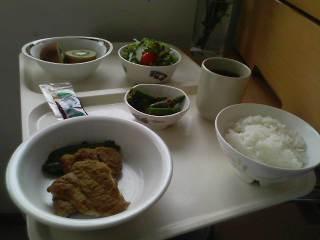 入院日記5日昼食メニュー