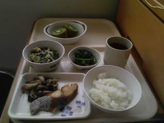 入院日記7日昼食メニュー